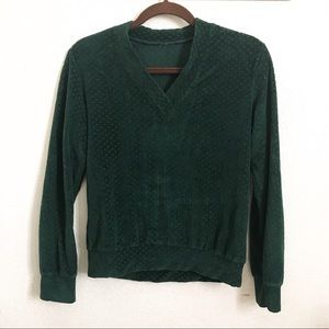 Vintage deep green sweater from Urban Outfitters!